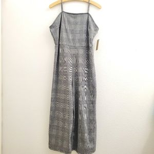 NWT Just Found Plaid Spaghetti Strap Jumpsuit D29